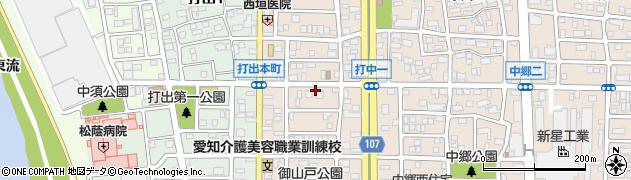 愛知県名古屋市中川区打中周辺の地図