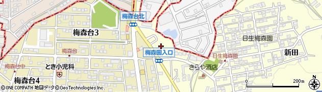 愛知県日進市梅森町(北田面)周辺の地図