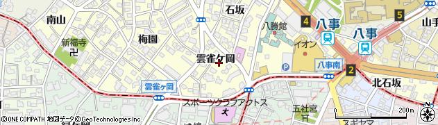 愛知県名古屋市昭和区広路町(雲雀ケ岡)周辺の地図
