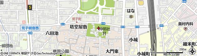 愛知県名古屋市中川区荒子町(宮窓)周辺の地図