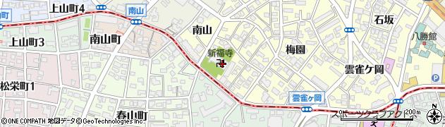 半僧坊新福寺周辺の地図