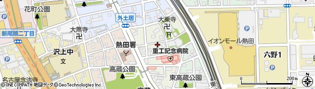 愛知県名古屋市熱田区外土居町周辺の地図