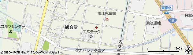 愛知県愛西市西保町(大之内)周辺の地図