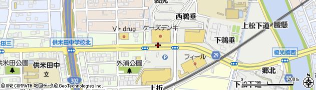 愛知県名古屋市中川区富田町大字榎津(布部田)周辺の地図