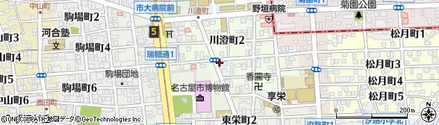 シャルル周辺の地図