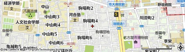 愛知県名古屋市瑞穂区駒場町周辺の地図