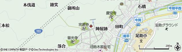 愛知県豊田市足助町(後山)周辺の地図