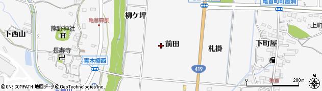 愛知県豊田市亀首町周辺の地図