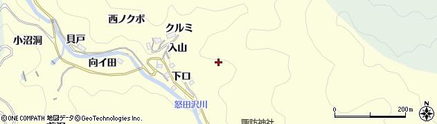 愛知県豊田市怒田沢町周辺の地図