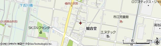愛知県愛西市西保町周辺の地図