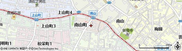 愛知県名古屋市瑞穂区南山町周辺の地図