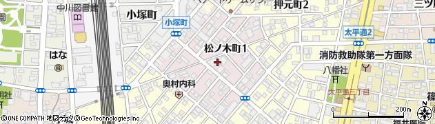 愛知県名古屋市中川区松ノ木町周辺の地図