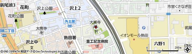 大乗教周辺の地図