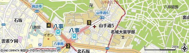 西遊記八事本店周辺の地図