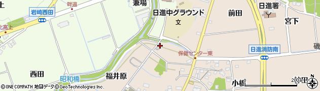 愛知県日進市本郷町(御器街道)周辺の地図