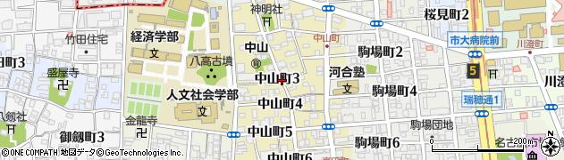 愛知県名古屋市瑞穂区中山町周辺の地図