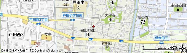 愛知県名古屋市中川区戸田周辺の地図