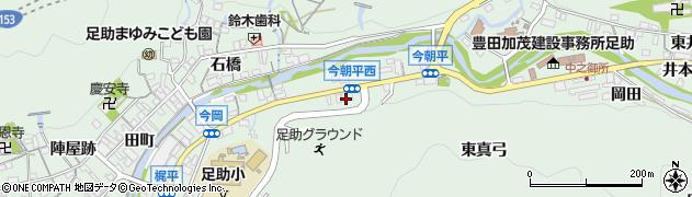 愛知県豊田市足助町(広畑)周辺の地図