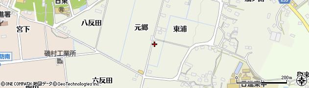 愛知県日進市藤島町(元郷)周辺の地図