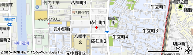 愛知県名古屋市中川区応仁町周辺の地図