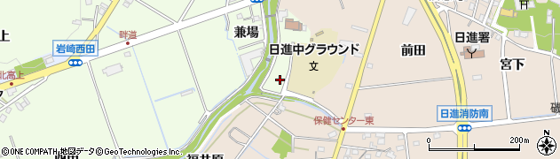 愛知県日進市岩崎町(兼場)周辺の地図
