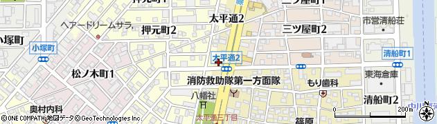 モスバーガー 太平通店周辺の地図