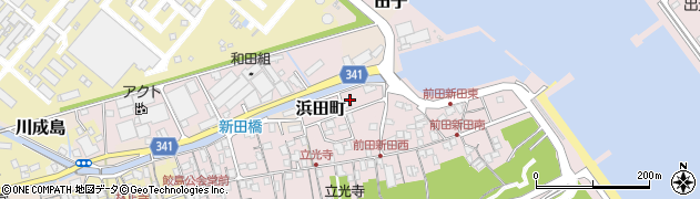 静岡県富士市浜田町周辺の地図