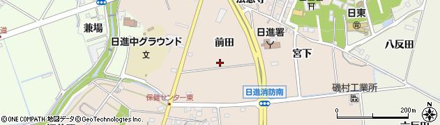 愛知県日進市本郷町(前田)周辺の地図