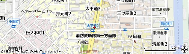 愛知県名古屋市中川区太平通周辺の地図