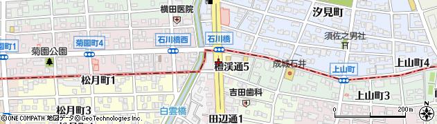 愛知県名古屋市瑞穂区檀渓通周辺の地図