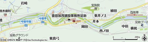愛知県豊田市足助町(岡田)周辺の地図