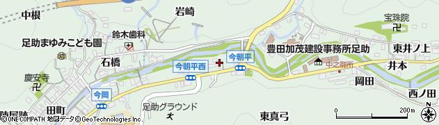 愛知県豊田市足助町(八万)周辺の地図