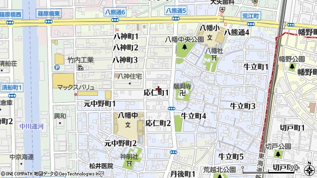 〒454-0042 愛知県名古屋市中川区応仁町の地図