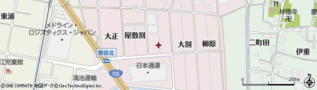 愛知県愛西市東保町(五間割)周辺の地図