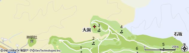 愛知県豊田市城見町(大洞)周辺の地図