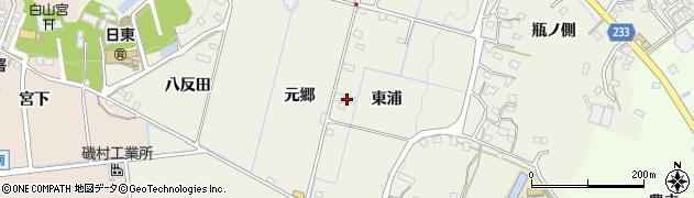 愛知県日進市藤島町(東浦)周辺の地図