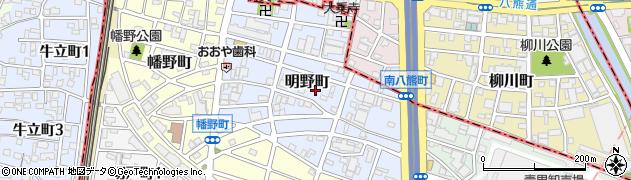 愛知県名古屋市熱田区明野町周辺の地図