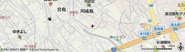 静岡県富士市宮島周辺の地図