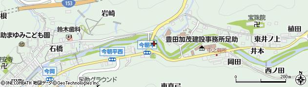 今朝平橋周辺の地図