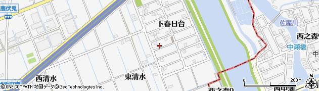 愛知県津島市鹿伏兎町(井桁下)周辺の地図