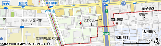 愛知県名古屋市昭和区高辻町周辺の地図