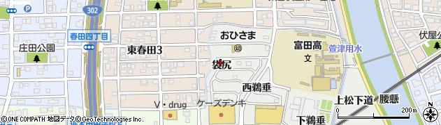 愛知県名古屋市中川区富田町大字榎津(袋尻)周辺の地図