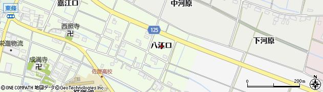 愛知県愛西市東條町(八江口)周辺の地図