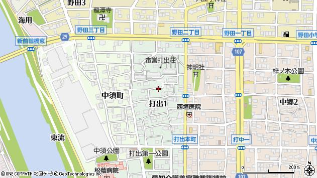 〒454-0926 愛知県名古屋市中川区打出の地図