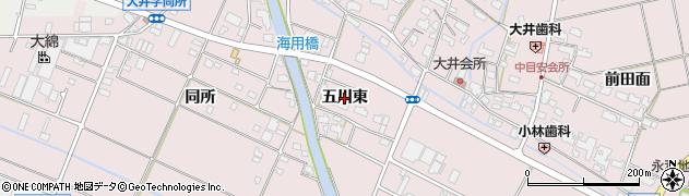 愛知県愛西市大井町(五川東)周辺の地図