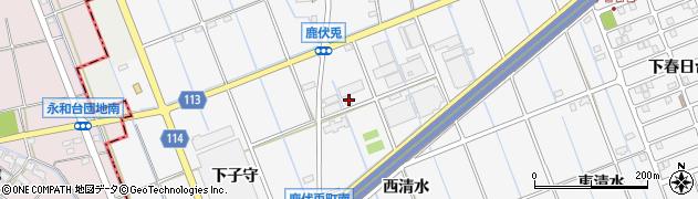 愛知県津島市鹿伏兎町(西清水)周辺の地図