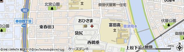 愛知県名古屋市中川区富田町大字榎津(西ナコラ)周辺の地図