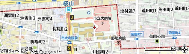 愛知県名古屋市瑞穂区瑞穂町(川澄)周辺の地図