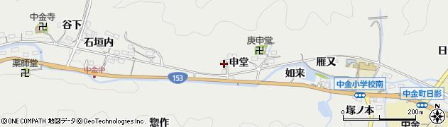 愛知県豊田市中金町(申堂)周辺の地図