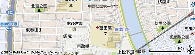 愛知県名古屋市中川区富田町大字榎津(東ナコラ)周辺の地図